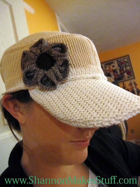 hat made from a reused sweater