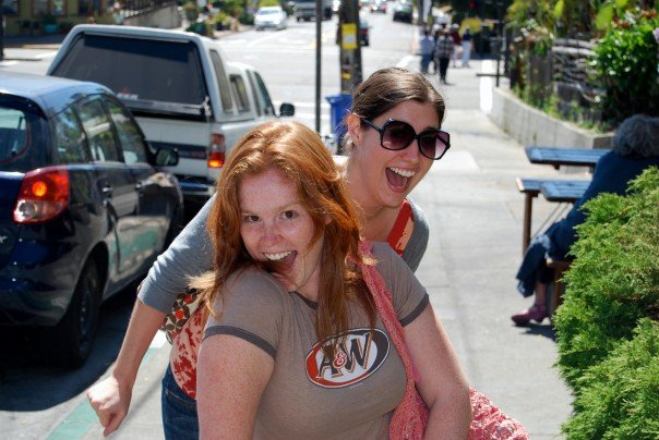 To awesome ladies pose for a photo opportunity