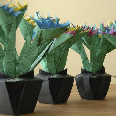 oragami birds of paradise