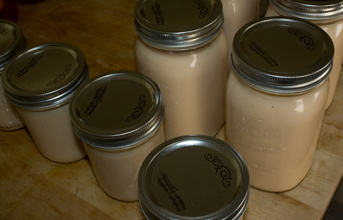 jars filled with homemade chai