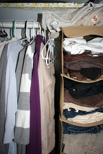 photograph of the inside of a closet