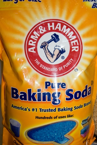 outside of a bag of baking soda