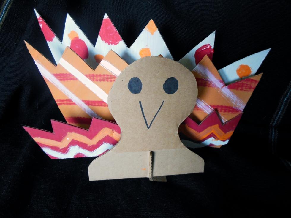 cardboard turkey